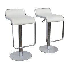All Modern Chairs Copa Beach Chair With Canopy 88 Off White Leather Bar Stools