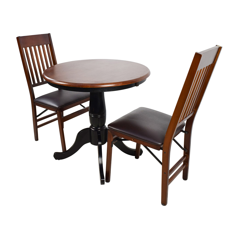 pier one round chair air travel beach chairs 69 off 1 keeran bistro rubbed black