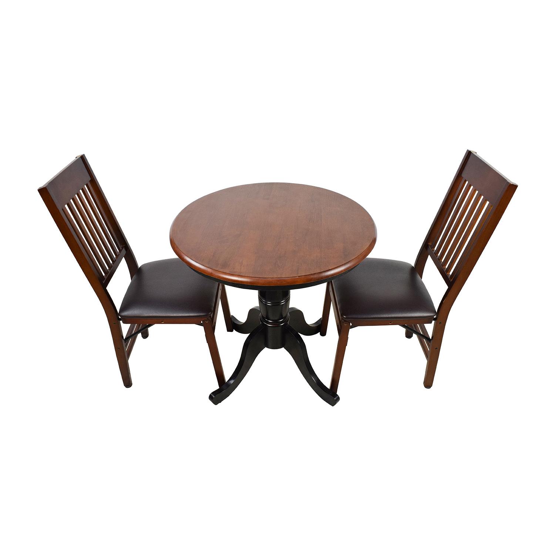 pier one round chair 5 position beach shop white 6 dining set