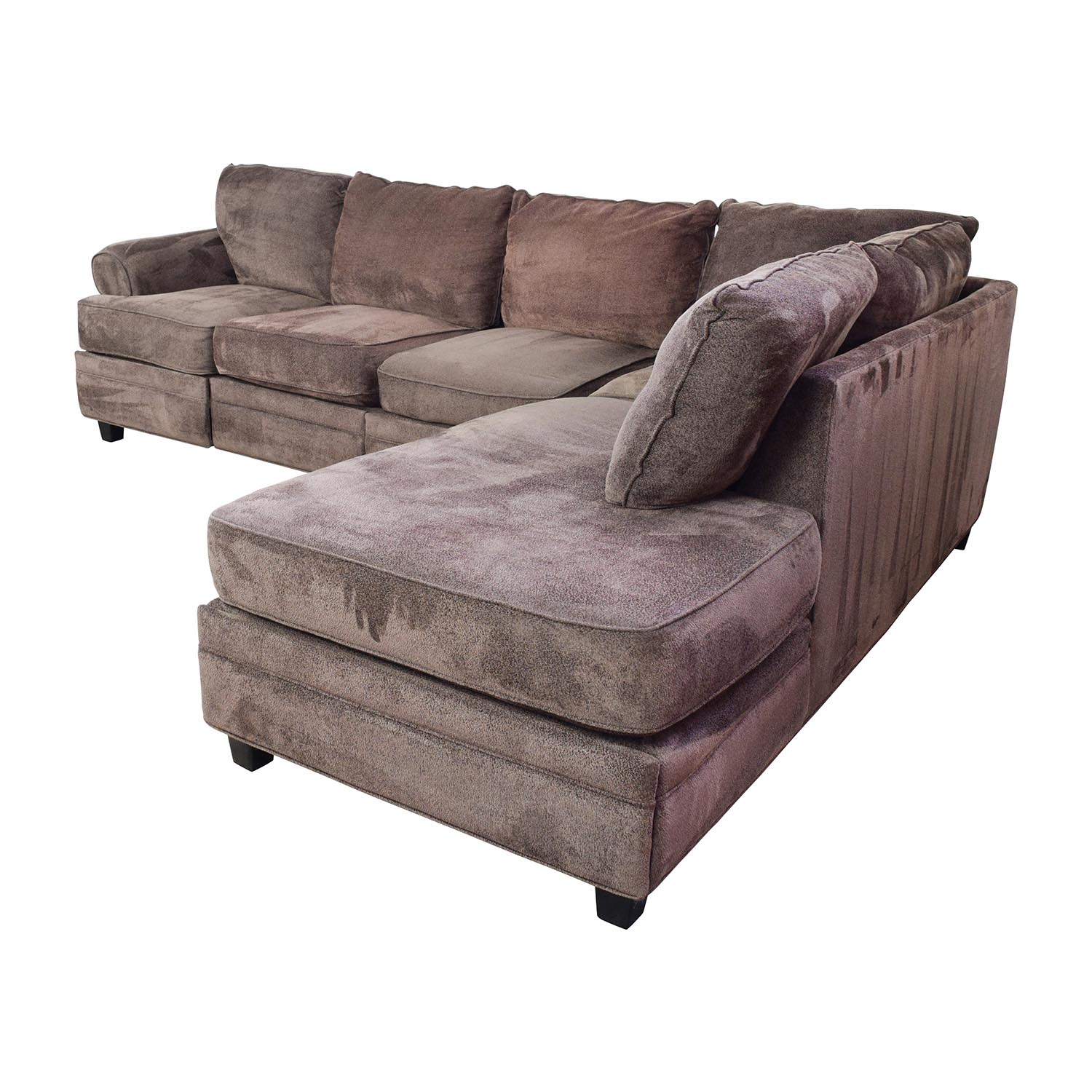 55 OFF  Bobs Furniture Bobs Furniture Brown Sectional