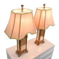 76% OFF - Horchow Horchow Hand Painted Table Lamps / Decor