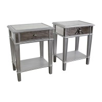 35% OFF - Pier 1 Pier 1 Hayward Mirrored Nightstands / Tables