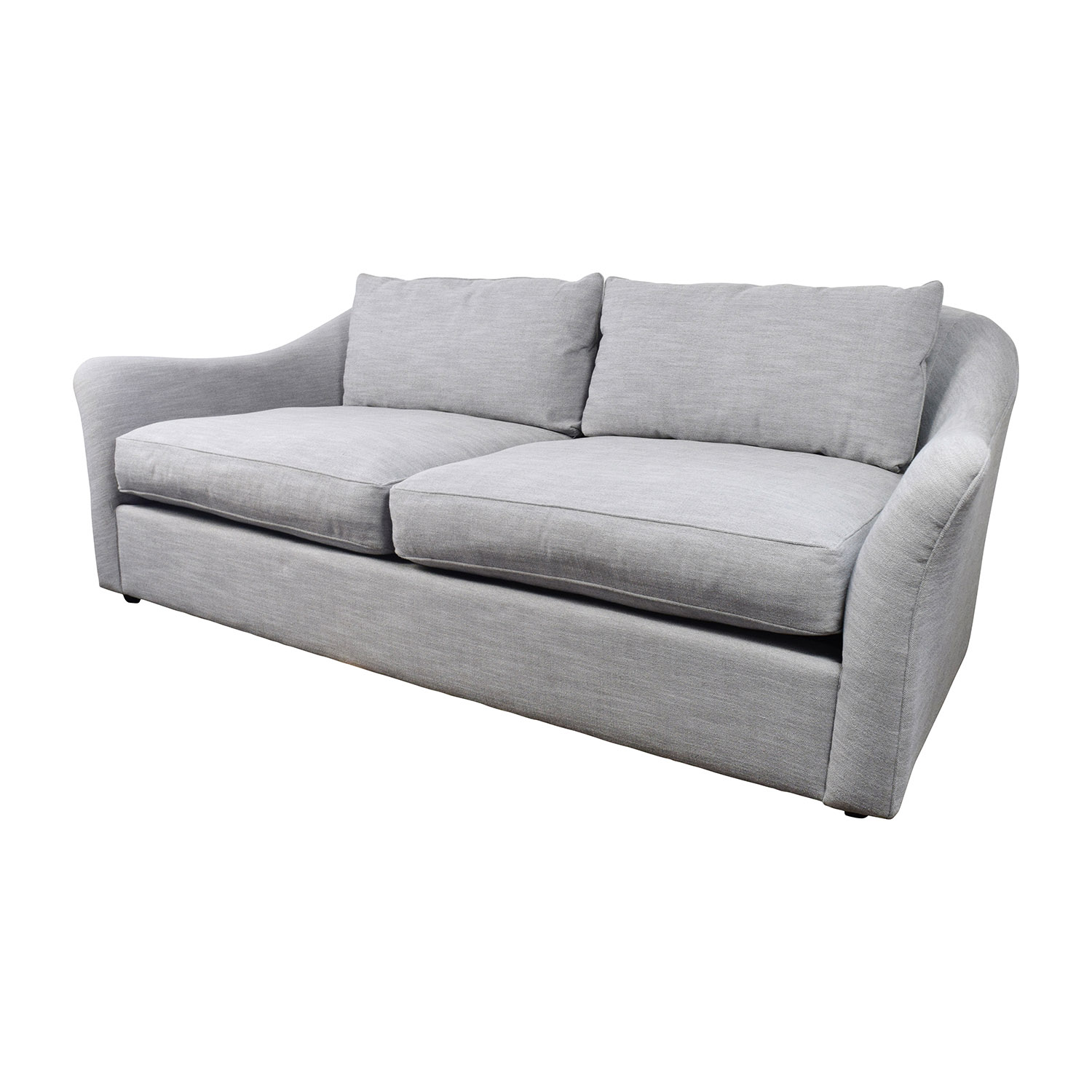 westelm sofa bed cleaning feather cushions delaney 30 off west elm grey sofas thesofa