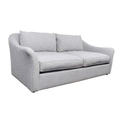 Westelm Sofa Bed Small Convertible Sectional 30 Off West Elm Delaney Grey