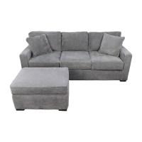 58% OFF - Macy's Macy's Radley Grey Sofa and Ottoman / Sofas