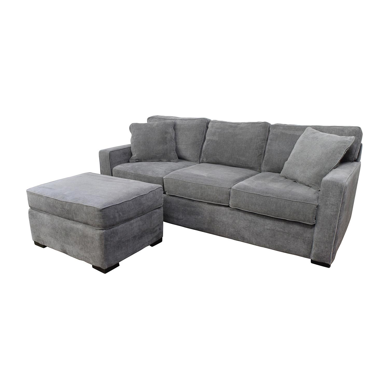 sofa and ottoman snuggle uk 58 off macy 39s radley grey sofas