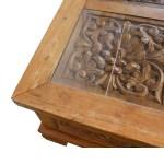 Hand Carved Teak Wood Coffee Table Quality Teak