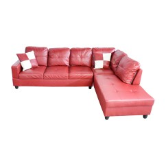Red Leather Sofas And Chairs Ashley Furniture Galveston Sofa Table Faux 76 Off Beverly