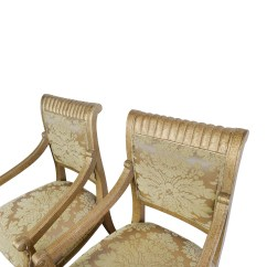 Chairs And Ottomans Upholstered For Vanity Table 80% Off - Rustic Gold Arm Accent /