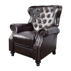 Used Recliner Chairs Wine Barrel Rocking Chair 58 Off Tufted Brown Leather
