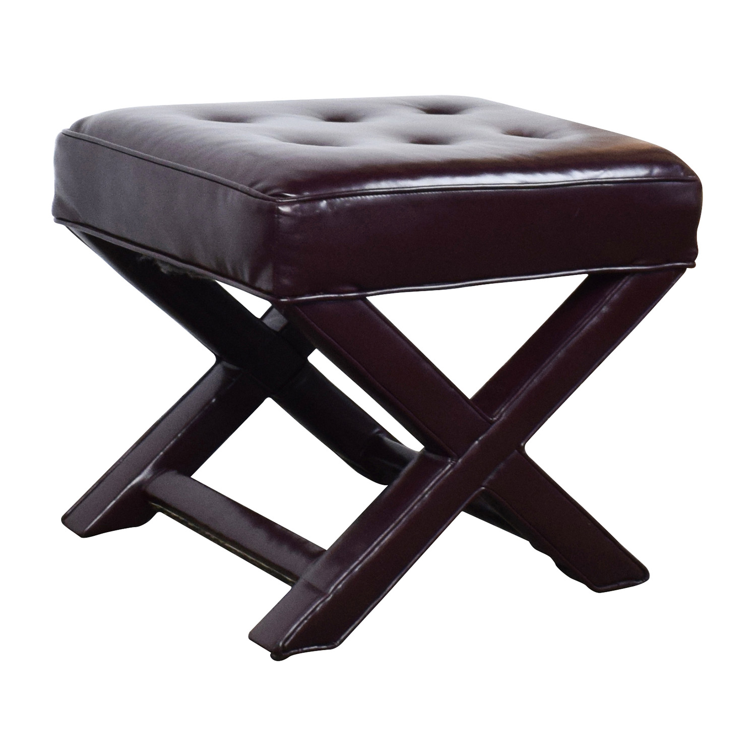 leather tufted chair and ottoman ergonomic computer 90 off burgundy chairs