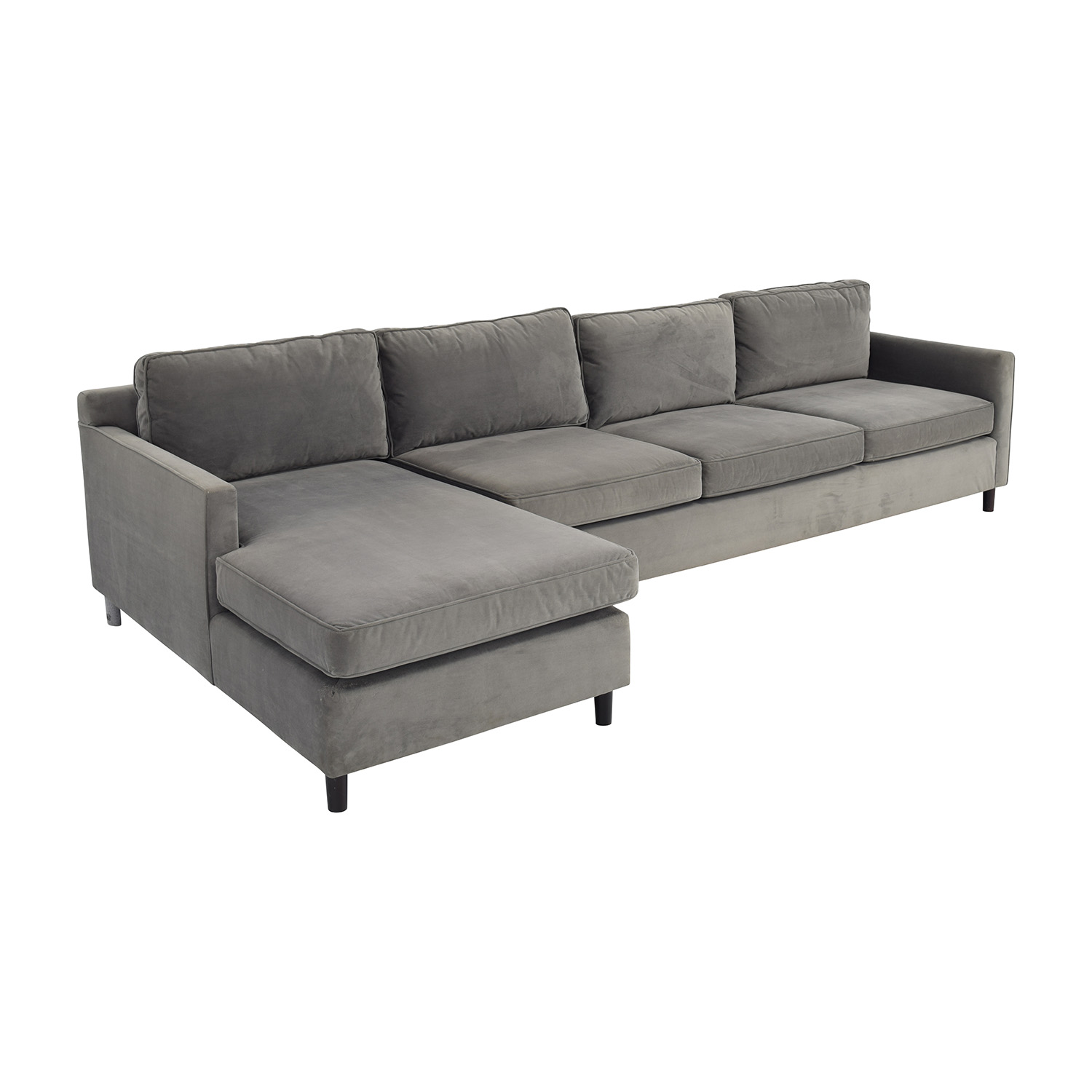 mitchell gold sectional sofa white vinyl 62 off and bob williams