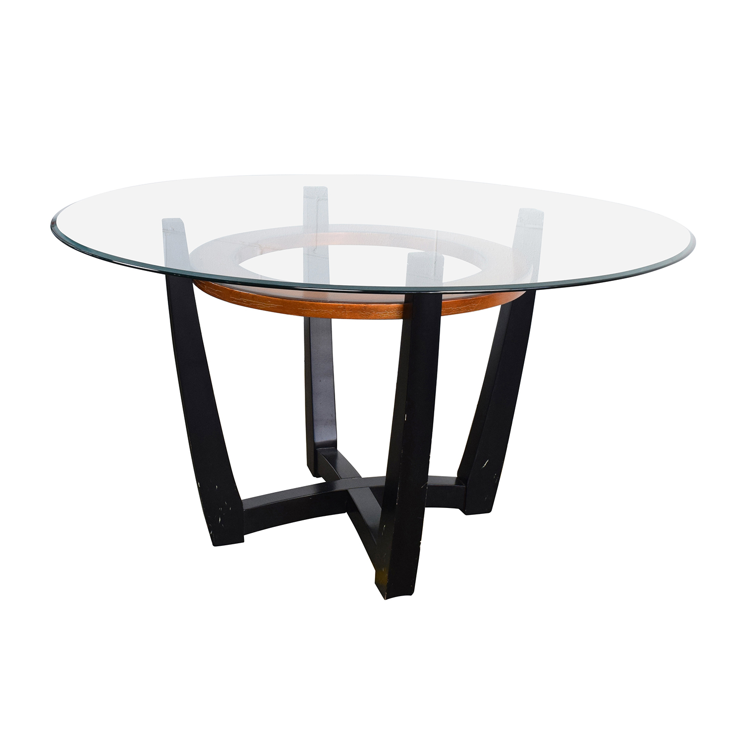 round glass kitchen tables cabinet distributors 88 off macy 39s elation dining table