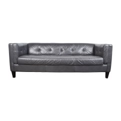 Classic Italian Leather Sofa Bed On Casters 63 Off Navy Tufted Sofas