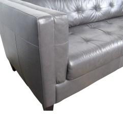 Classic Italian Leather Sofa Archer Black Bonded 63 Off Navy Tufted Sofas