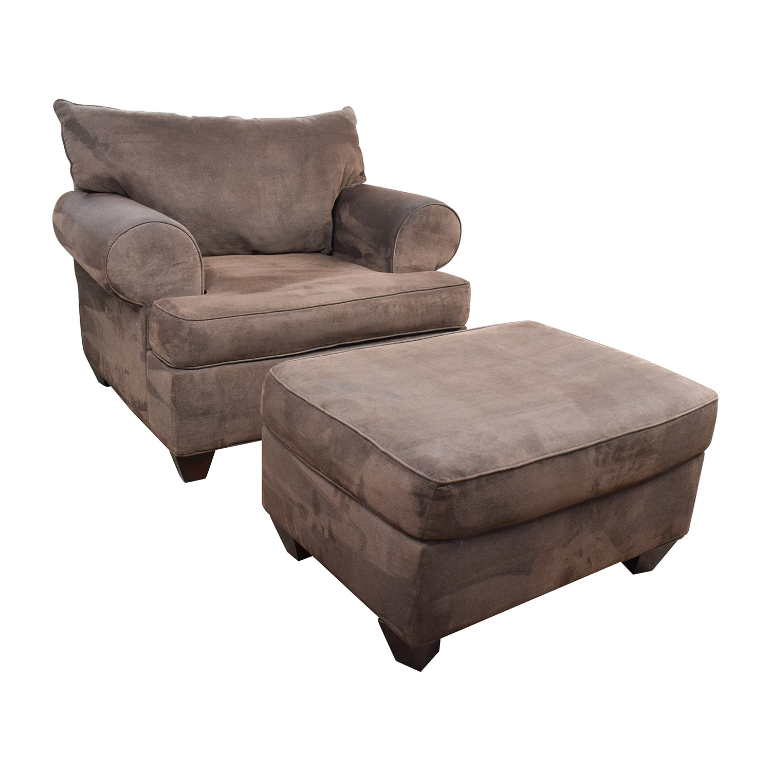 67 OFF  Dark Brown Sofa Chair with Ottoman  Chairs