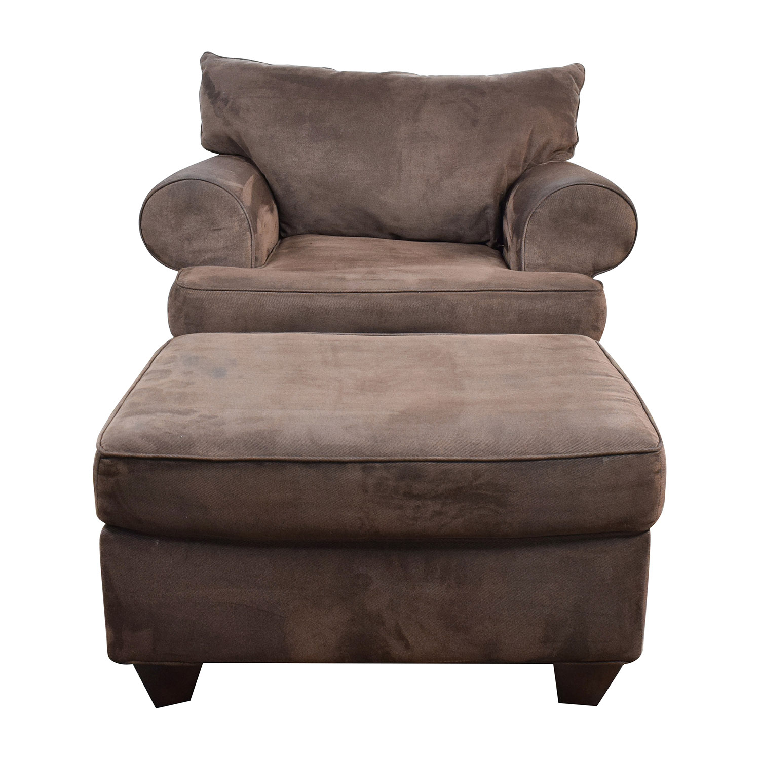 Chairs With Ottomans 67 Off Dark Brown Sofa Chair With Ottoman Chairs