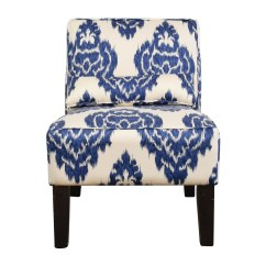 Blue And White Accent Chair Lounging Chairs For Bedrooms 52 Off Overstock