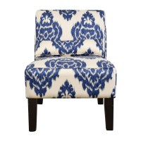 52% OFF - Overstock Overstock Blue and White Accent Chair ...