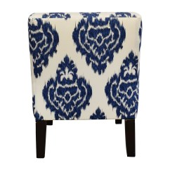 Blue And White Accent Chair Ergonomic Leather 52 Off Overstock