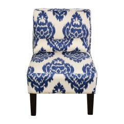 Blue And White Accent Chair Fold Up Table Chairs 52 Off Overstock