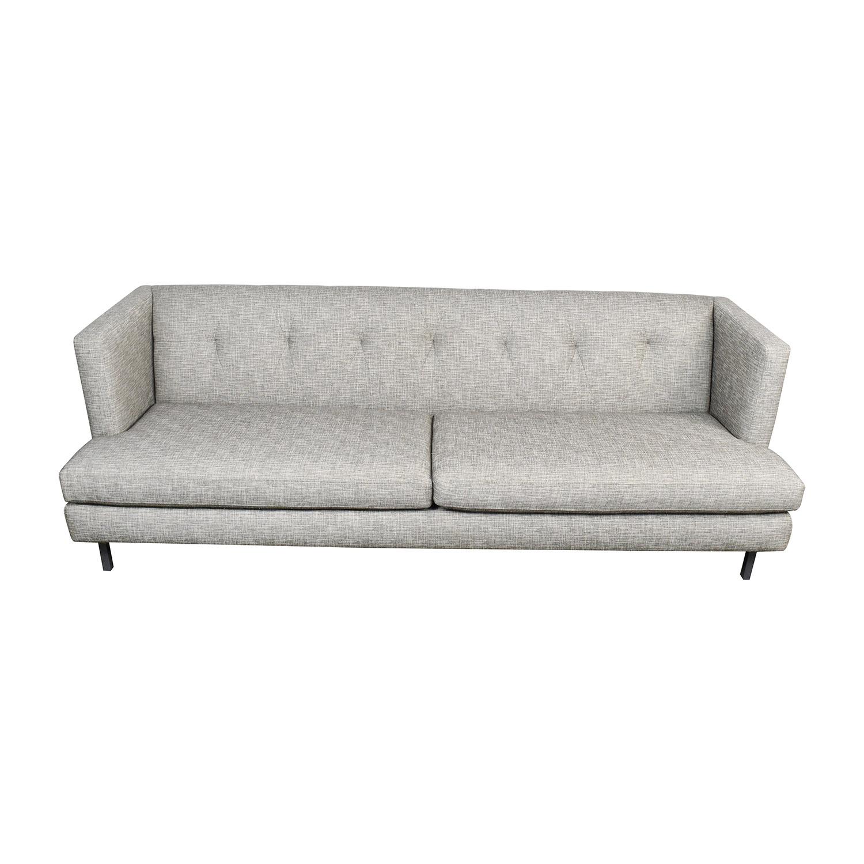 tufted gray sofa tete a 62 off cb2 avec sofas