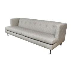 Tufted Gray Sofa Beige Sleeper 62 Off Cb2 Avec Sofas