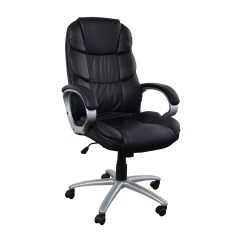 Black Leather Desk Chairs Vanity 57 Off Executive Office Chair