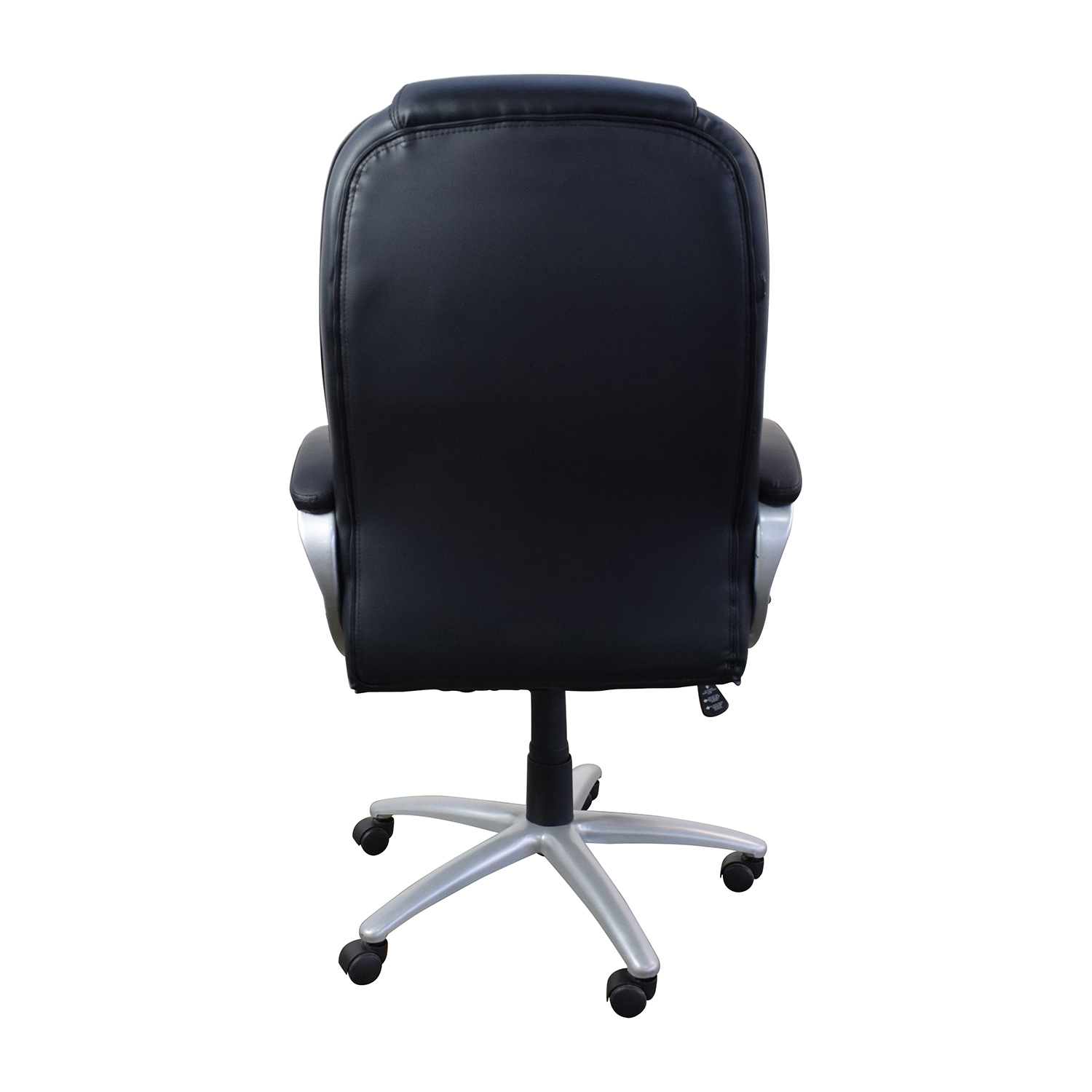 57 OFF  Black Leather Executive Office Chair  Chairs