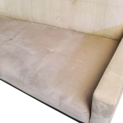 Crate And Barrel Leather Sofa Bed Wooden Furniture Set 82 Off Beige Tufted