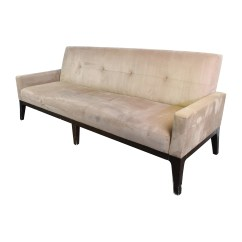 Crate And Barrel Leather Sofa Bed Milano Rattan Set 82 Off Beige Tufted