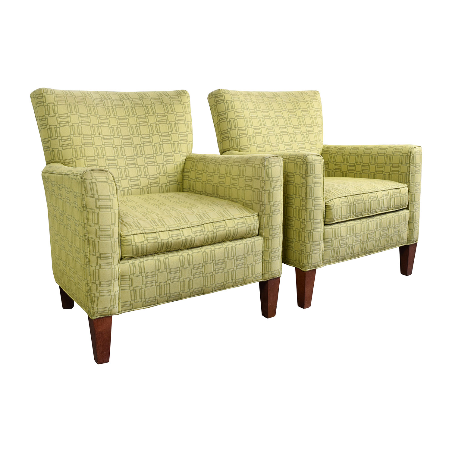ethan allen recliners chairs lift chair recliner covers 90 off green upholstered accent