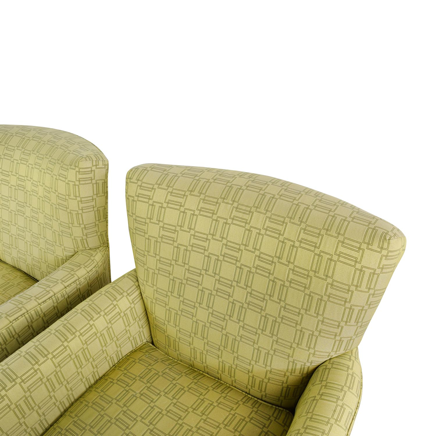 ethan allen recliners chairs chair cover rentals lakeland fl 90 off green upholstered accent