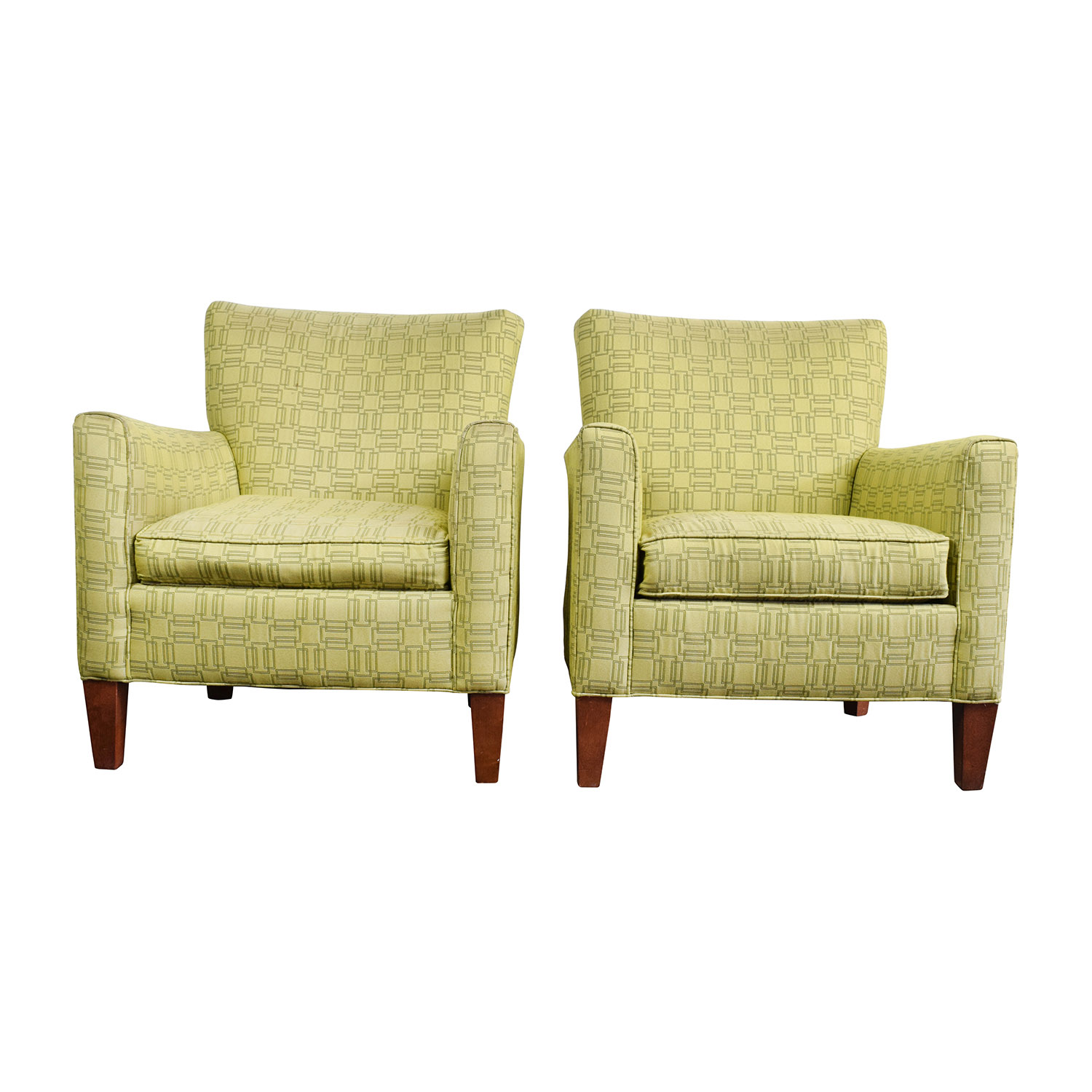ethan allen recliners chairs zero gravity chair gander mountain 90 off green upholstered accent