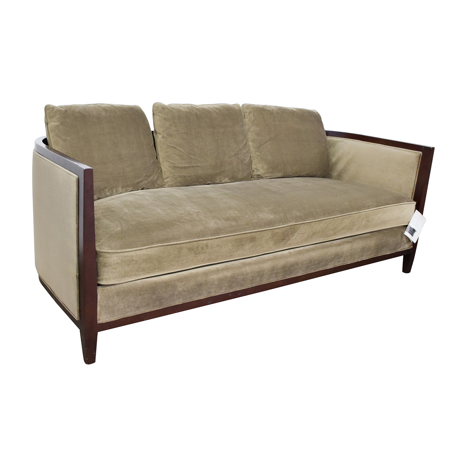 single cushion sofa pros and cons sofas sectionals montreal 85 off bernhardt tan