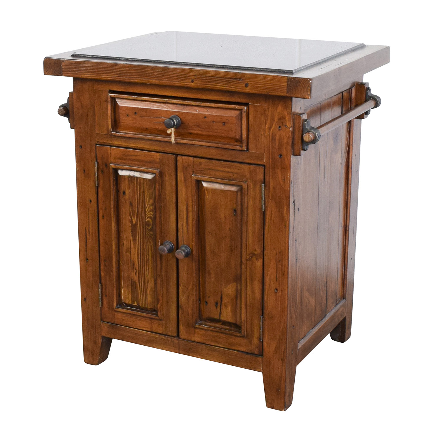 kitchen island discount country table sets 65 off wood with black marble top tables