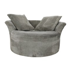 Grey Round Sofa Chair Sure Fit Pet Cover Circular Loveseat 83 Off Bob S Furniture