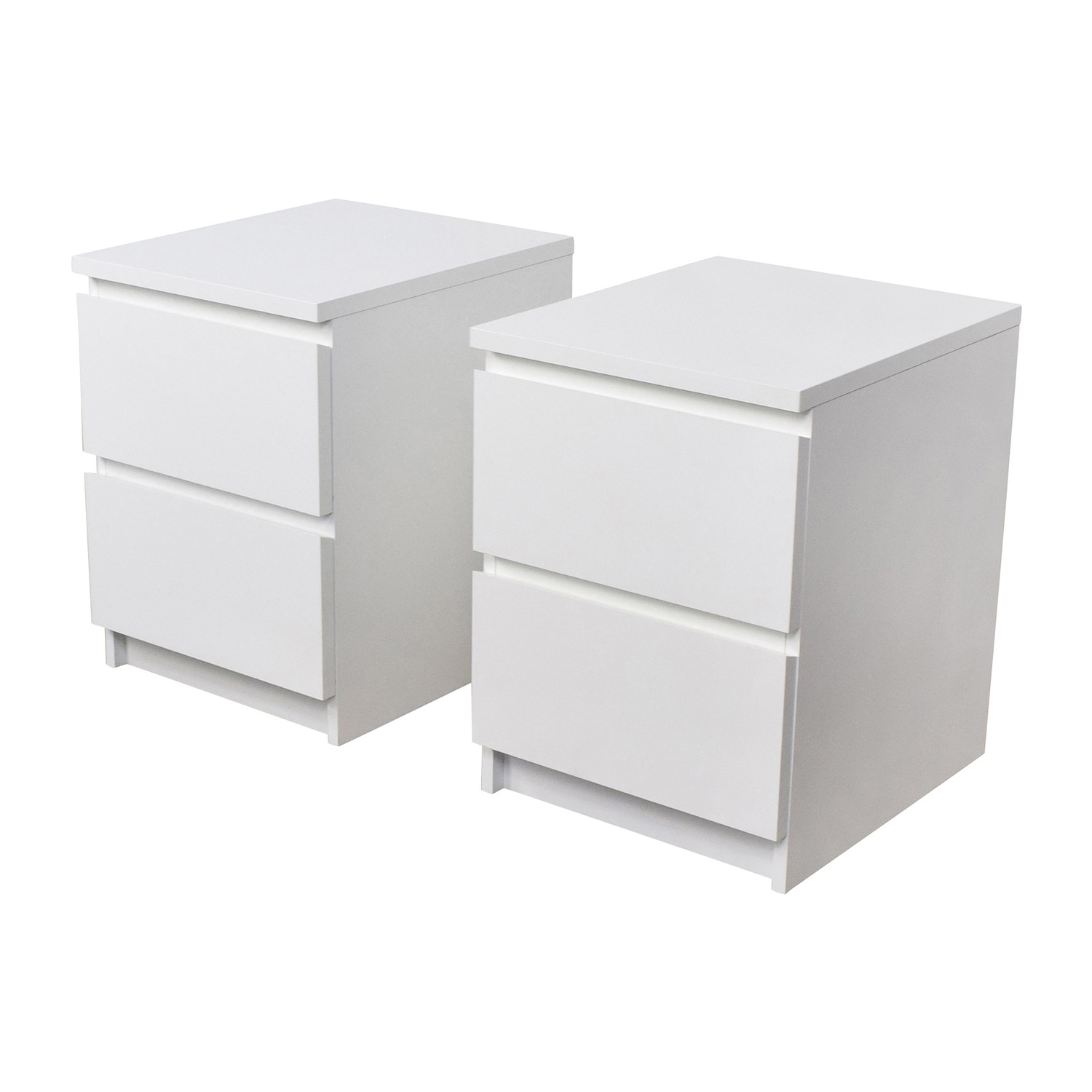 ikea kitchen table with drawers cutting gloves for 40 off malm white two drawer end tables