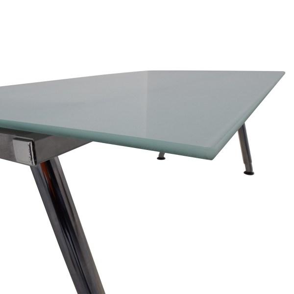 69 - Ikea Galant Glass Top Desk Tables
