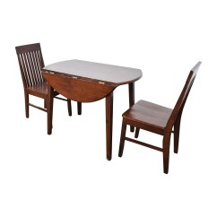 Dining Round Table And Chairs Slipper Chair Ikea 60 Off With Folding Sides