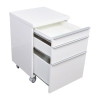 75% OFF - White 3-drawer Filing Cabinet / Storage
