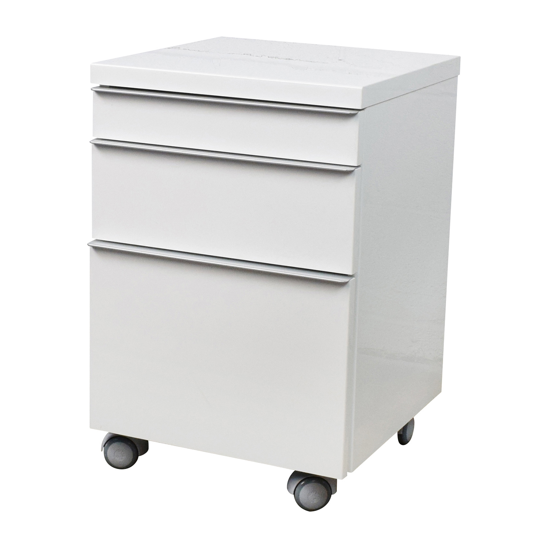75 OFF  White 3drawer Filing Cabinet  Storage