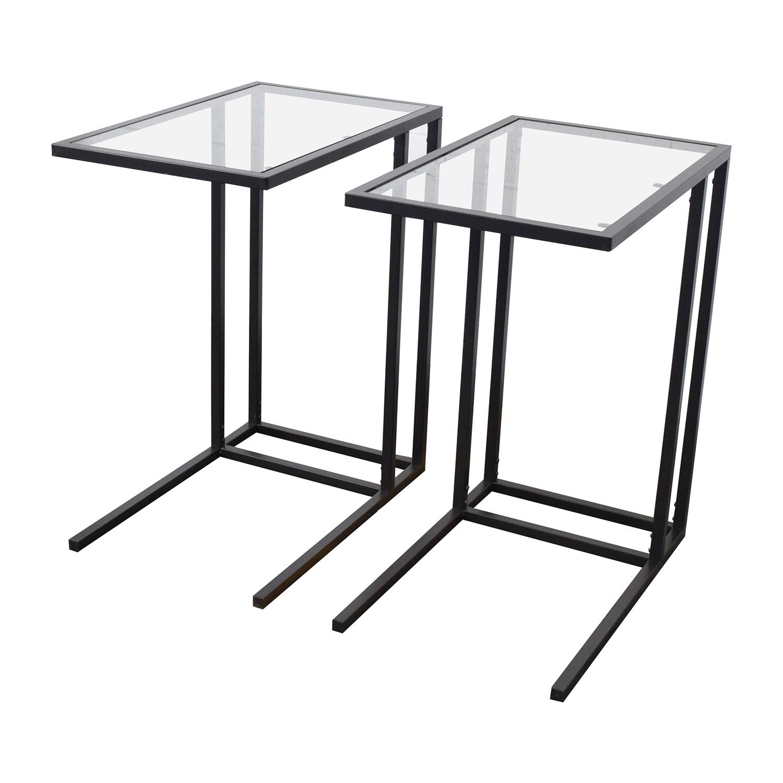 ikea glass top table 67 off ikea ikea glass end tables tables