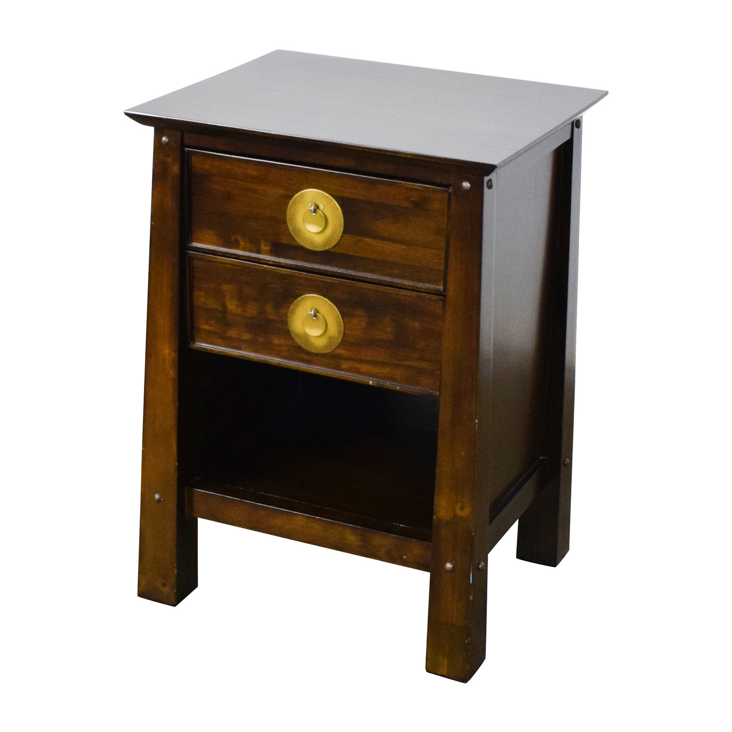 pier 1 imports dining chairs upholstered canada 79% off - shanghai collection espresso nightstand / tables