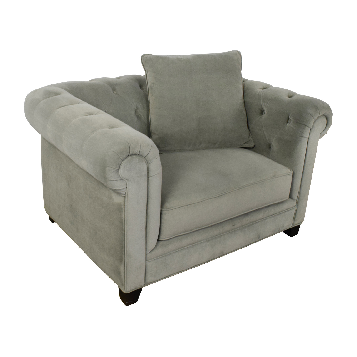 tufted accent chairs leather chair bed sleeper 71 off martha stewart collection