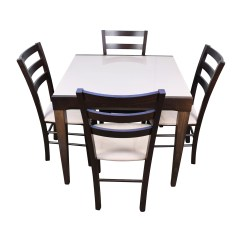 Macys Dining Chairs Target Toddler Potty 82 Off Macy 39s Cafe Latte Five Piece Extendable