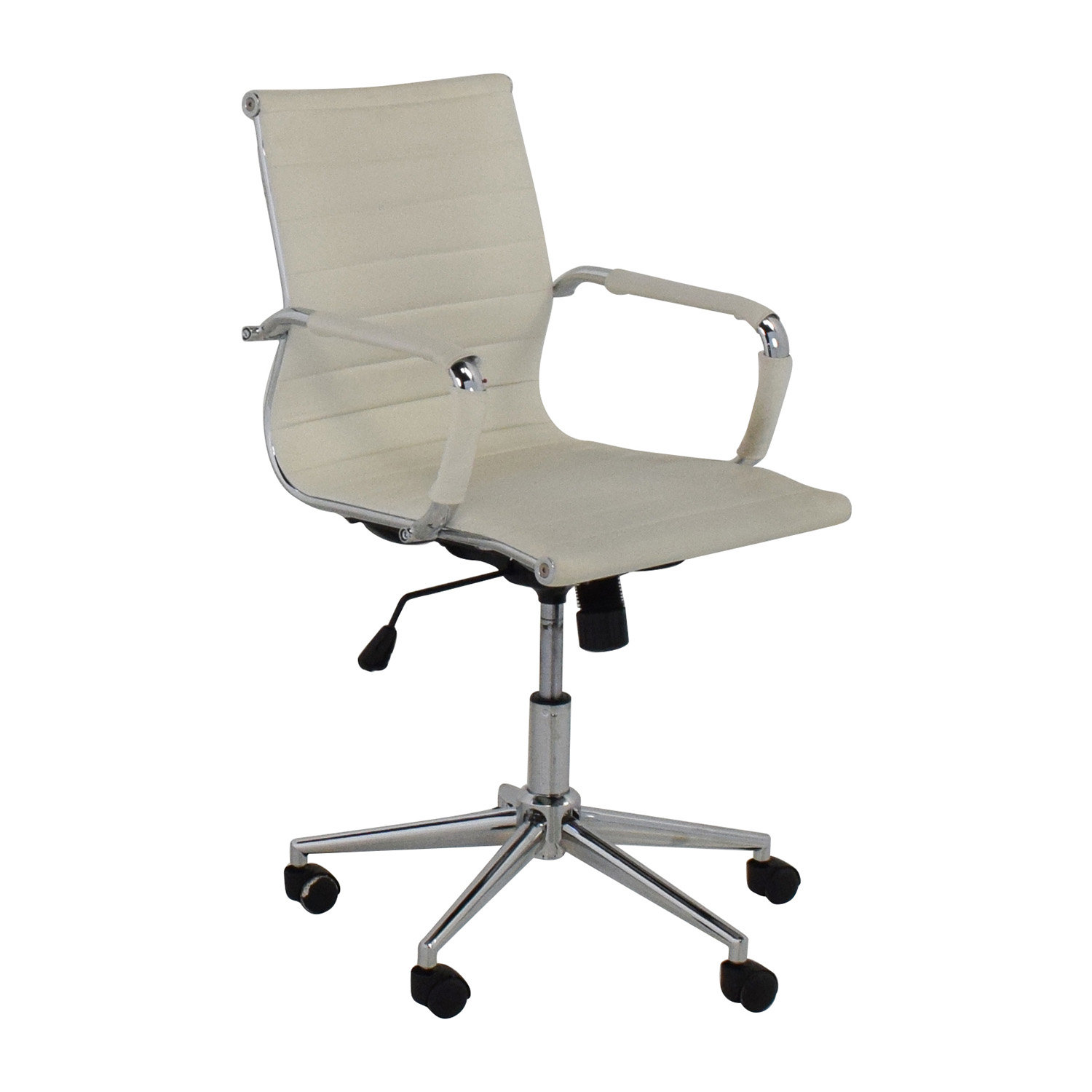 modern white office chairs baby trend sit right high chair 32 off 2xhome mid back faux leather