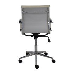 Modern White Office Chairs Metal Butterfly Chair 32 Off 2xhome Mid Back Faux Leather