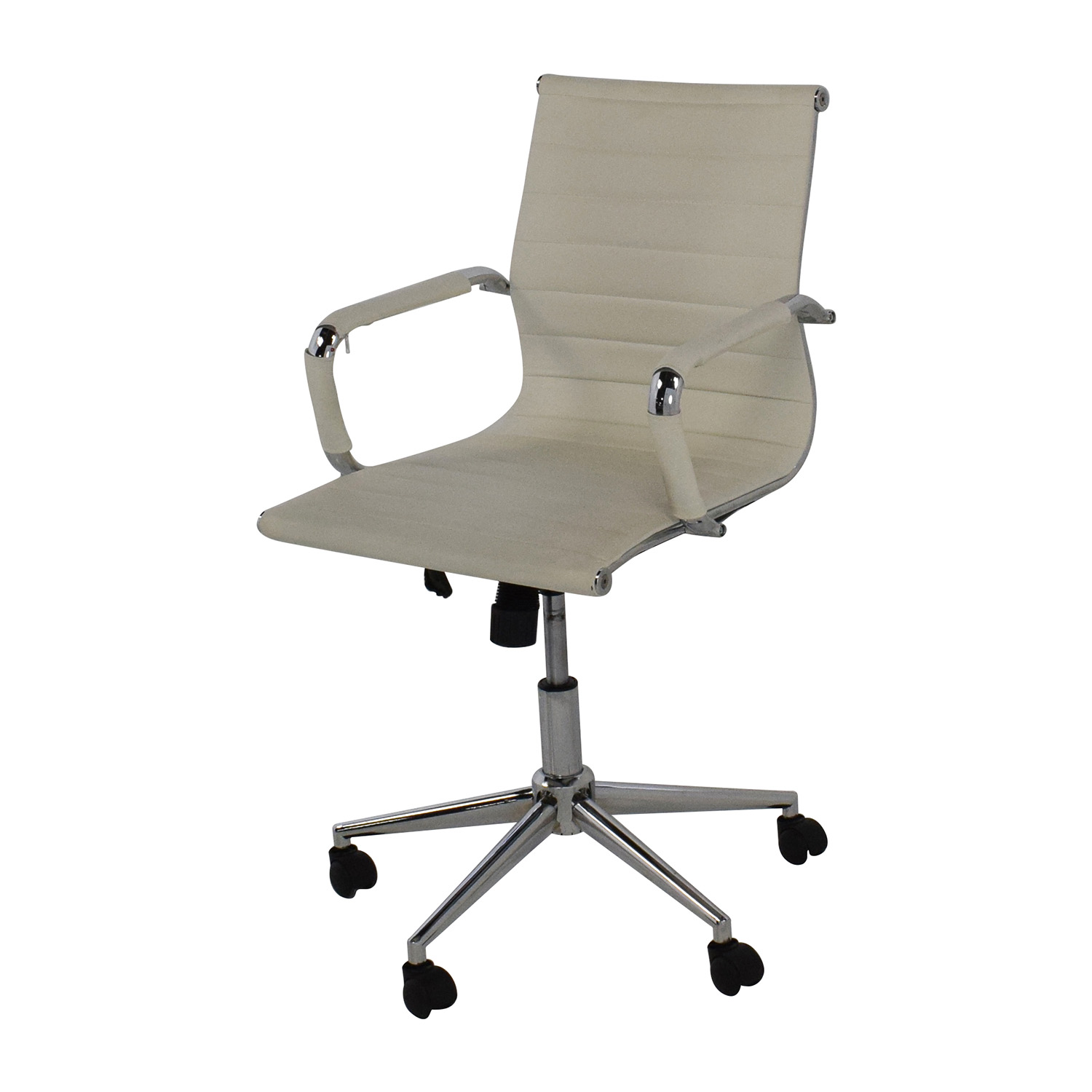 modern white desk chair outdoor cushions at lowes 32 off 2xhome mid back faux leather
