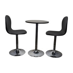 Target Table And Chairs Medline Shower Chair 79 Off Cafe Leather Tables